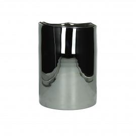 ROSA-Windlicht-Glas-Zilver- M- dia 18 x 24 cm