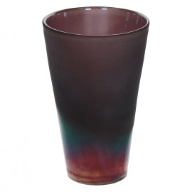 IRIAN-Vase-Glass-Purple-S- dia 12.5 x 19.5 cm