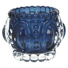 MEDAILLE-T/light-Glas-Blauw- dia 11.5 x 9 cm