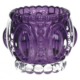 MEDAILLE-T/light-Glass-Purple- dia 11.5 x 9 cm