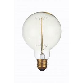 BULBS-Bulb with filament structure-E27-40W-2500 hours-dia 9.5 x 13.5 cm