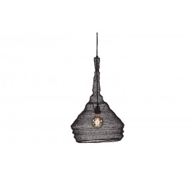MAILLE-hanging lamp-E27-Iron-oxidised-S- dia 40 x 65 cm
