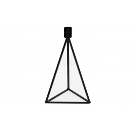 PYRAMID-Kandelaar-Metaal-Zwart-M- 13 x 13 x 22 cm