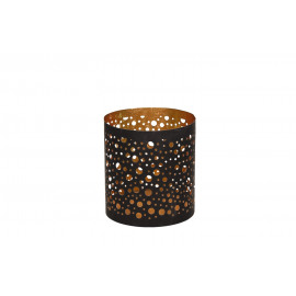 COSMOS-T/light holder-Metal-Black-Gold-S- dia 10 x 11 cm