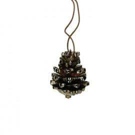 PINO - Kerst hanger-Metaal-Goud-S- dia 5 x 6 cm