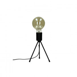TRIPOD-Lamp-E27-Metal-Black- dia 15 x 20 cm