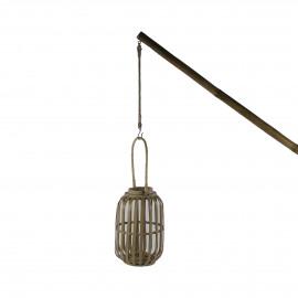 PARTY - lanterne avec bâton - bambou - H 300 cm - Naturel