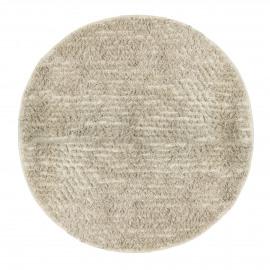 TÄBY - rond tapijt - 100% katoen - wit - Ø160 cm