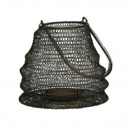 LOOP - lantaarn - metaal - zwart - S - Ø20xh20 cm