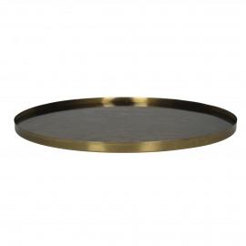WABI - spiegel/dienblad - metaal/glas - brass - L