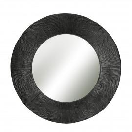 GERARD - spiegel - metaal - graphite - M - Ø44,5 cm