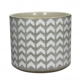 EPHESE - flower pot - earthenware - DIA 22,5 x H 19,5 cm