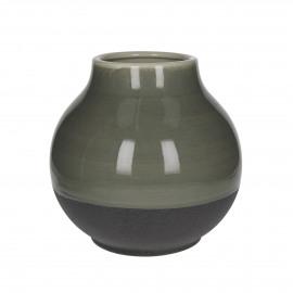 SOLSTICE - vase - céramique - émail réactif - beige - M - dia25.5x25 cm