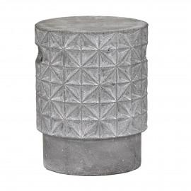 GEOMETRIC - tabouret- céramique - finish béton  - dia 32x41cm