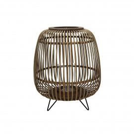 LOKKEN - lanterne - bambou - naturel - M - Ø35,5xh44,5 cm