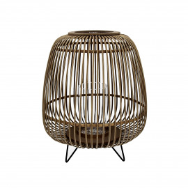 LOKKEN - lanterne - bambou - naturel - L - Ø42,5xh52 cm