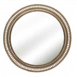 ALS - tray - bamboo/mirror - natural - M - Ø49,5xh10 cm