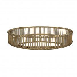 ALS - tray - bamboo/mirror - natural - L - Ø60xh10 cm