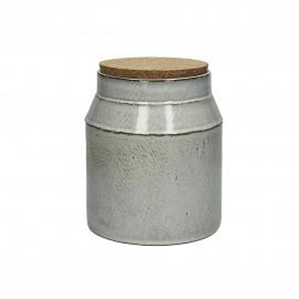FANNY - pot de cuisine avec couvercle - faïence / liège- L - dia 16x18,5 cm