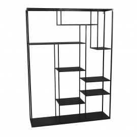 ZEN - rack - metal - L 110 x W28 x H 150 cm - black