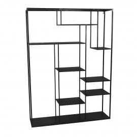 ZEN - étagère  - métal - L 110 x W28 x H 150 cm - noir