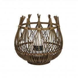 LOU - lantern - rattan - natural - Ø32xh31 cm