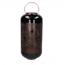 NULIA - photophore - métal - DIA 24 x H 51 cm - noir