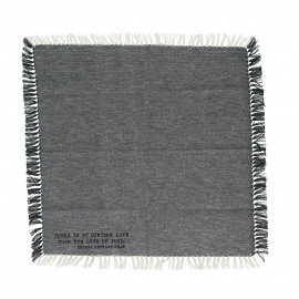 ENJOY - gift box set/4 napkins with text - 100% cotton - grey - 40x40 cm