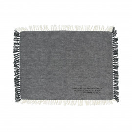ENJOY - gift box set/4 placemats with text - 100% cotton - grey - 35x50 cm