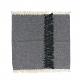 ENJOY - gift box set/2 table runners with text - 100% cotton - grey - 140x40 cm