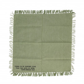 ENJOY - gift box set/4 napkins with text - 100% cotton - green - 40x40 cm