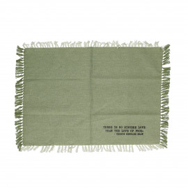 ENJOY - gift box set/4 placemats with text - 100% cotton - green - 35x50 cm