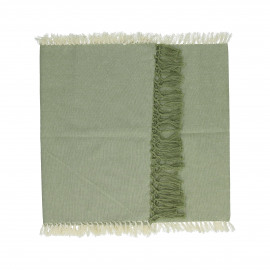 ENJOY - gift box set/2 table runners with text - 100% cotton - green - 140x40 cm