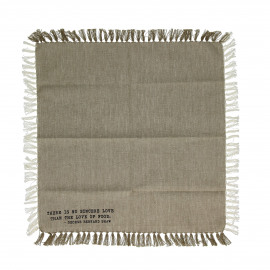 ENJOY - gift box set/4 napkins with text - 100% cotton - sand - 40x40 cm