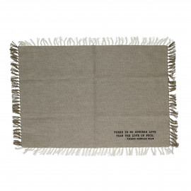 ENJOY - gift box set/4 placemats with text - 100% cotton - sand - 35x50 cm