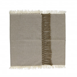 ENJOY - gift box set/2 table runners with text - 100% cotton - sand - 140x40 cm