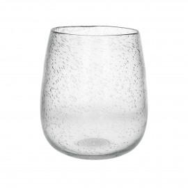 PAOLA - vaas - glas - DIA 23 x H 26 cm - transparant