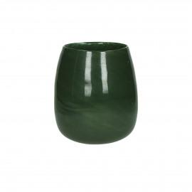 PAOLA - Vaas - Glas - Groen - dia 17 x 19 cm