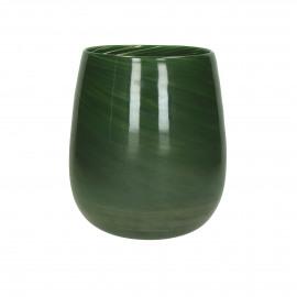 PAOLA - Vaas - Glas - Groen - dia 23 x 26 cm