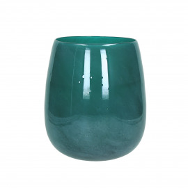 PAOLA - Vaas - Glas - Turquoise - dia 23 x 26 cm