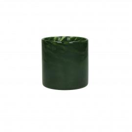 PAOLA - Vaas - Glas - Groen - dia 10x10 cm