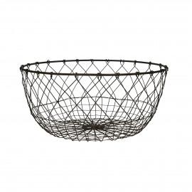 LUCA - basket - iron wire - brown - M - Ø35,5xh16 cm