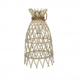 IRENE - lamp on battery - bamboo/rope - natural - M - Ø27xh50 cm
