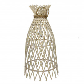 IRENE - lamp on battery - bamboo/rope - natural - L - Ø32,5xh60 cm