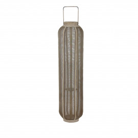 ARIANE - lantaarn - bamboe/metaal - naturel/goud - L - Ø23xh90 cm