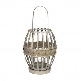 IRMA - lantaarn - bamboe - naturel - S - Ø23xh29,5 cm