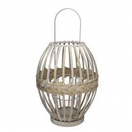 IRMA - lanterne - bambou - naturel - L - Ø31,5xh41 cm