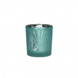 ATLANTIS - T /light - gezandstraald glas - Aqua/witte schelp - S - Ø7 x 8 cm