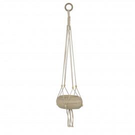 FINN - cache-pot suspendue - bois - DIA 22 x H 70 cm