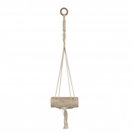 FINN - hanging flowerpot - wood - L 23 x W 10 x H 80 cm